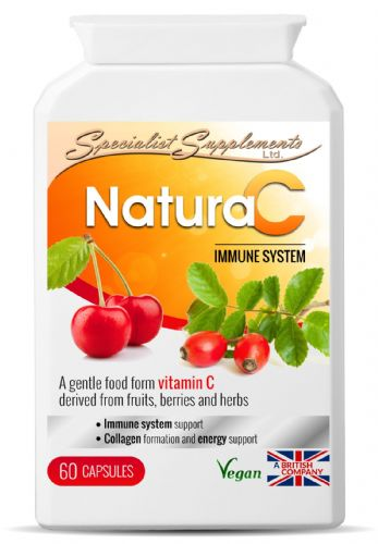 NaturaC Food Form Vitamin C 500mg- Collagen/Energy/Immunity Support